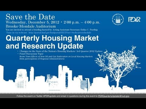 Quarterly Housing Market Update - HUD - 12/5/12