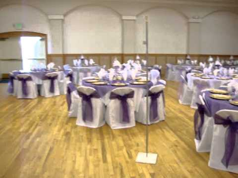 quinceanera decoration in dark purple y lila