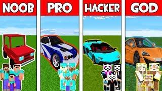 Minecraft NOOB vs PRO vs HACKER vs GOD : FAMILY SUPERCAR in Minecraft! Animation