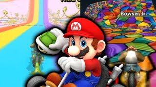 Mario Kart Wii but it's ALL Rainbow Road Tracks!
