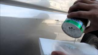 Easy way to remove Car Door scuff marks and paint transfer.