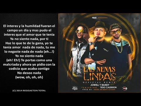 Las Nenas Lindas (Remix) (Video Letra) - Jowell Y Randy Ft. Tego Calderon