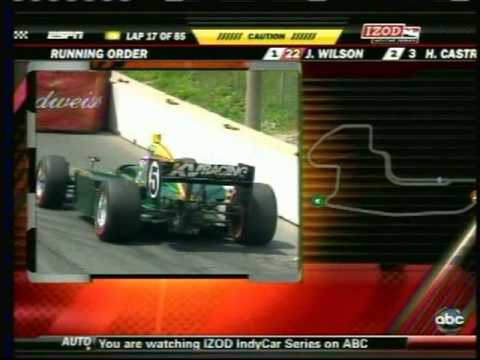 2010 Indycar Toronto - Takuma Sato crash Video