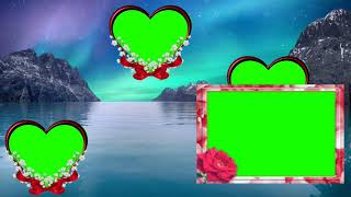 Wedding green screen effect background beautiful frame. Green screen HD video