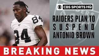 Raiders plan to suspend Antonio Brown after incident with Mayock | Breaking News | CBS Sports HQ