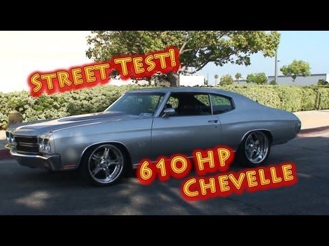 1970 Chevelle Alien Intake 502 BBC Street Test with Tom Nelson.  Nelson Racing Engines.  NRE.