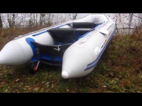 установка транцевых колес на лодку solar