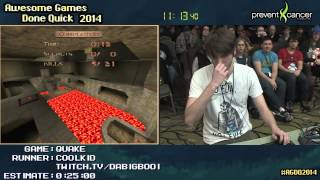 Quake :: SPEED RUN (0:17:50) [PC] Live by Coolkid #AGDQ 2014