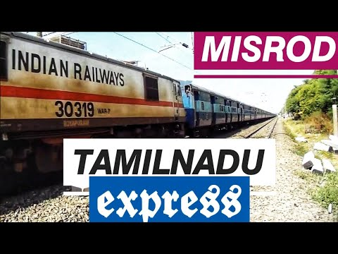 12622  Tamil Nadu Express Gets Wap 7 From Royapuram Shed video