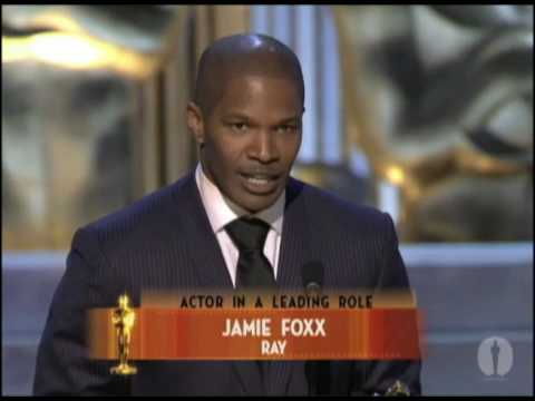"Jamie Foxx winning Best Actor for ""Ray"""