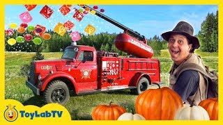 Download GIANT CANDY CANNON! Halloween Pumpkin Patch Trick-or-Treat Kids Activities & Surprise Toys Video 3Gp Mp4
