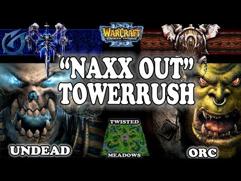 "Grubby | Warcraft 3 TFT | 1.29 | UD v ORC on Twisted Meadows - ""Naxx Out"" Towerrush"