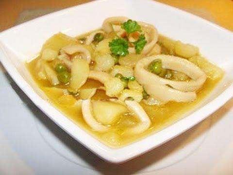 Guiso de patatas con calamares