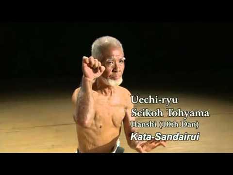 Okinawan karate master. Kata.