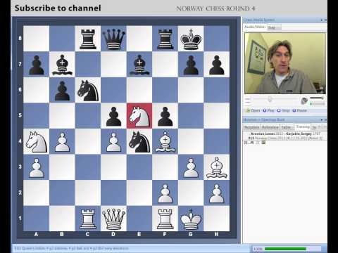 Norway Chess 2013 Round 4 Aronian vs Karjakin