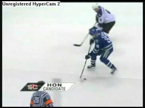 Henrik Sedin's Goal Against LA Kings 3/13/09 Video