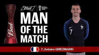 Antoine Griezmann (France) - Man of the Match - MATCH 5