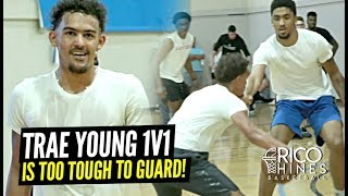 Trae Young Can't Be GUARDED 1 on 1!! Shows Off SMOOTH Game at Rico Hines Private Runs!