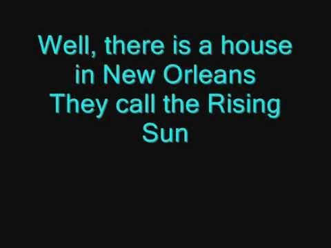 The Animals - House Of The Rising Sun (lyrics) video