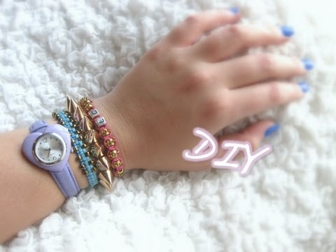 DIY Beaded Square-Knot Bracelet Tutorial // ARM CANDY