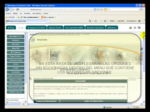 TUTORIAL DE INGRESO A LMS BLACKBOARD EN WWW.SENASOFIAPLUS.EDU.CO
