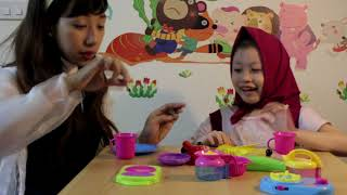 Khám phá bộ đồ chơi nấu ăn cùng chị Nhi Nhím và bé Bống nhé💗Đồ chơi nấu ăn trẻ em