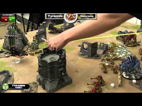 Tyranids  vs Necrons Warhammer 40k  Battle Report - Jay Knight Batrep Ep 39 part 1/4