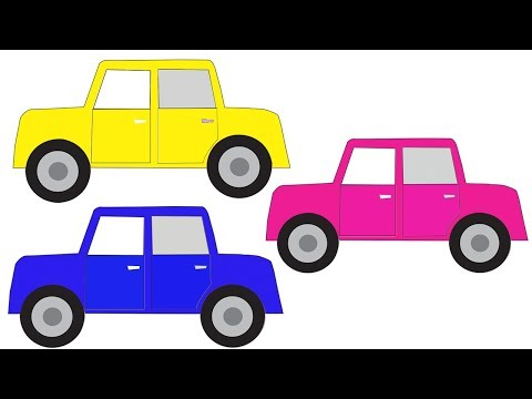 Learn Colors With Car For Kids || Cartoon Video For Children || Nursery Rhymes thumbnail