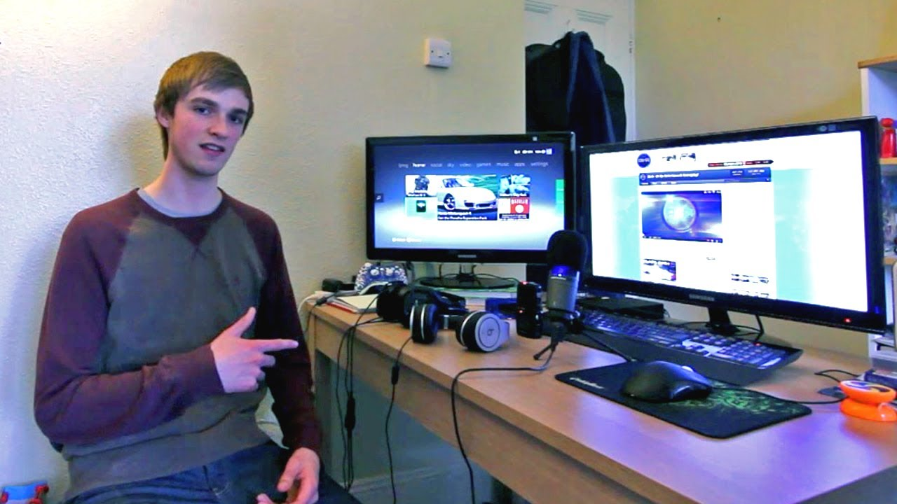 Ali a 39 s gaming setup room tour epic setup youtube How to make a gaming setup in your room