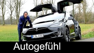 Tesla Model X FULL REVIEW test driven Crossover SUV p90D - Autogefuehl