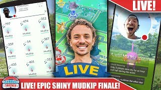 MY BEST LIVE STREAM FINALE! FINISH TO MUDKIP DAY!! RUNNING ON LIVE STREAM FOR SHINIES  | POKEMON GO