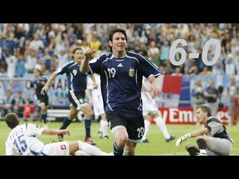 Lionel Messi vs Serbia & Montenegro (2006 World Cup)|by IsaacFutbol4hd
