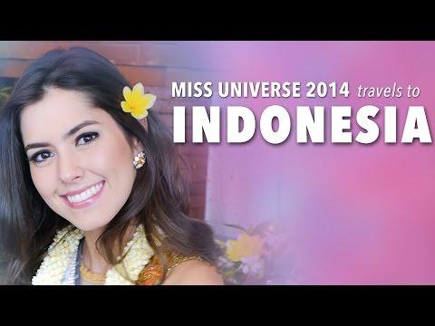 Miss Universe 2014, Paulina Vega travels to Indonesia