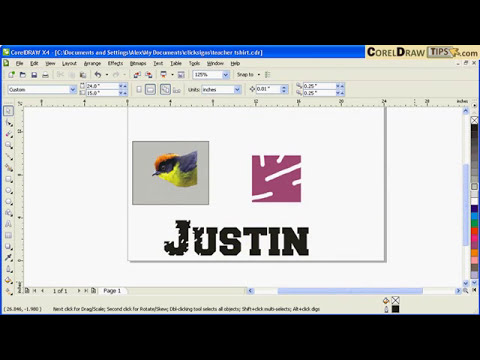 Using the eraser tool in CorelDraw
