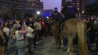 All access to downtown shut down as protests continue