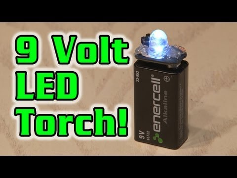9 Volt Led Torch! (watch In 720p!) video