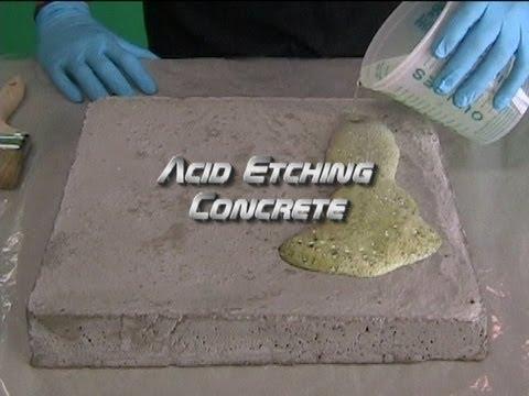 concrete etcher machine