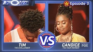 Tim Johnson Jr vs Candice Boyd with Results  &Comments The Four 2018 Episode 3
