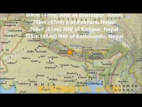 M 7.8 EARTHQUAKE - NEPAL - April 25, 2015