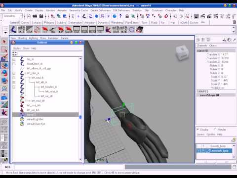 Maya Biped Rigging Free Video Tutorials Lesson-05 (ii) Hand, in Oriya language