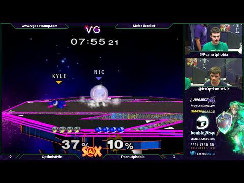 S@X - OptimistNic (Falco) Vs. Peanutphobia (Yoshi) SSBM Winners - Melee