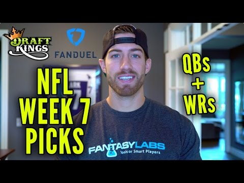 DraftKings + FanDuel NFL Week 7 Picks [QB + WR]