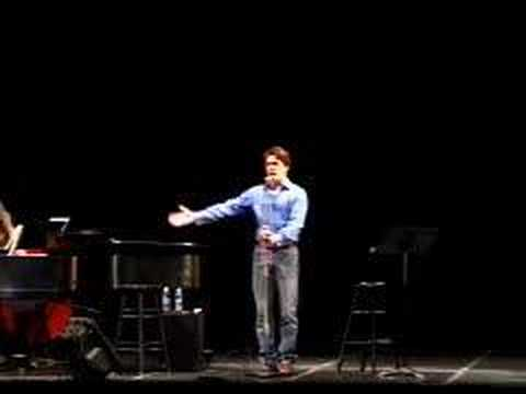 John Barrowman cabaret at Kennedy Center part 1