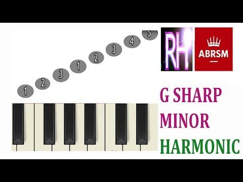A sharp harmonic minor scale