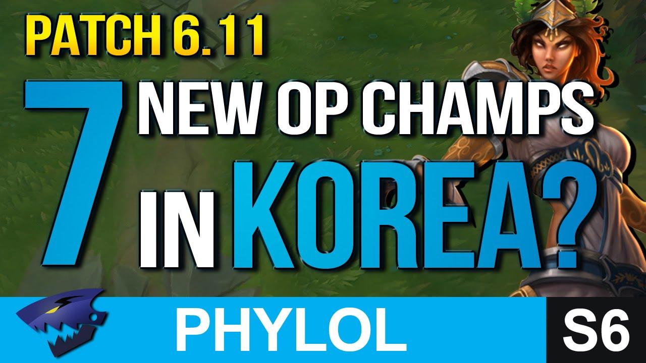 7 NEW KOREAN OP PICKS SO FAR IN Patch 6.11 - Builds & Masteries etc (League of Legends)