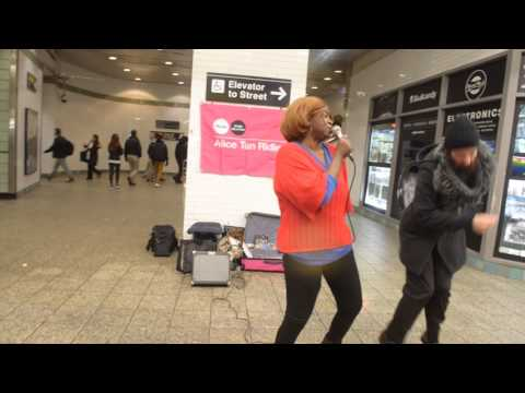 Rolling by the River Tina Turner cover by Alice Tan Ridley @ Times Square 42nd st subway