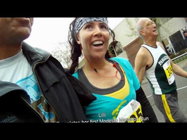 Lilli's First Modesto Marathon Run
