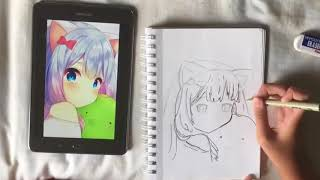 Drawing Anime girl #1 timelapse