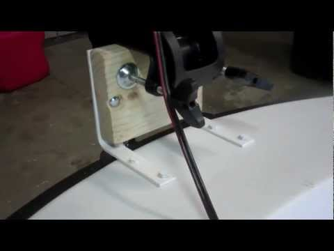 Adding a bow transom mount youtube for Mounting a transom mount trolling motor on the bow