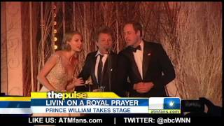 Taylor Swift, Jon Bon Jovi and Prince William Sing 'Livin' on a Prayer'